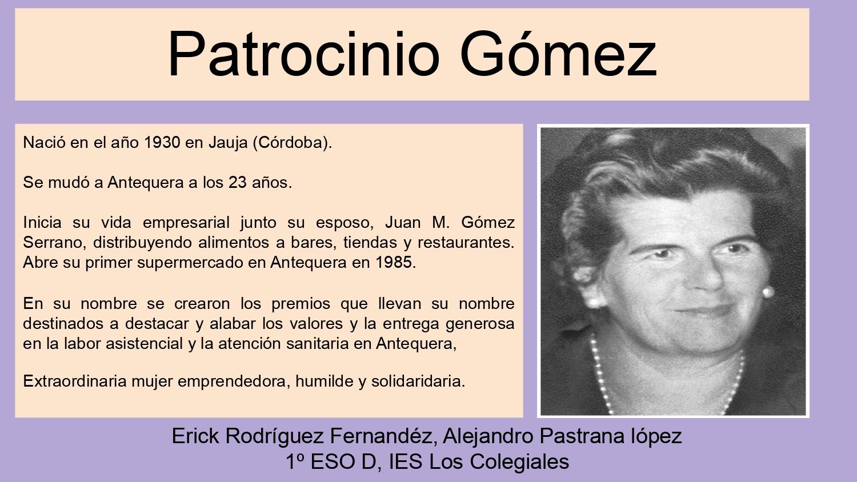 propuesta patrocinio gomez para ser homenajeada en parque veronica antequera